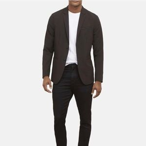 Kenneth Cole Black Bank Street Blazer - 47R